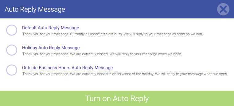 using auto replies in meevo messenger meevo 2 overview